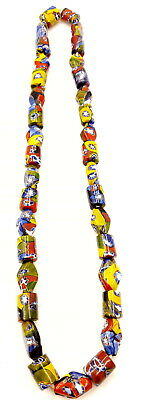 Vintage African Trade Millefiori Glass beads necklace