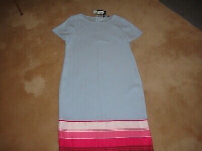 Ladies Pale Blue Marks And Spencer Shift Dress Size 12 Bnwt