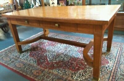Antique Solid Wood Mission Arts & Crafts Kitchen Dining Table Library Desk 66x38