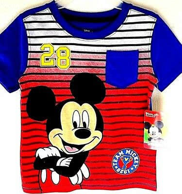 """Disney Licensed 3T Mickey Mouse Clubhouse Shirt  """"Team Mickey 28""""  SALE"""