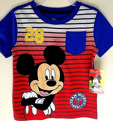 """Disney Mickey Mouse Clubhouse T Shirt Size 4T """"Team Mickey 28"""" iconic Licensed"""