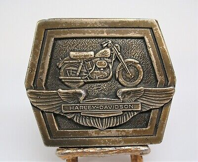 Vintage Harley Davidson Sportster Wings Sold Brass Belt Buckle