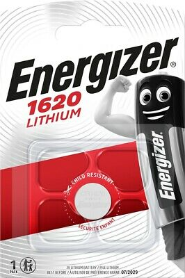 Energizer 1620 CR1620 3V Lithium Coin Cell Battery - DL1620 KCR1620 BR1620