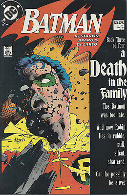 BATMAN #428 - Jan 89   A Death In The Family Jason Todd Robin dies