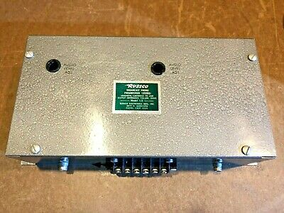 RUSSCO Broadcast Phono Preamplifier Stereo Magnetic Cartridge Model 1-S