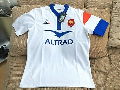 Le Coq Sportif France Rugby Union Away Shirt 2018-19 Size XL Brand New With Tags