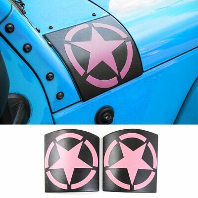Cowl Body Armor Cover Sport Accessories Part for Jeep Wrangler JK 2007-2017 Pink