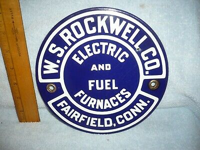 early porcelain veribrite   rockwell electric fuel  furnaces fairfield conn.