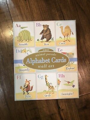 eeBOO ANIMAL PARADE CARDS ALPHABET LEARNING WALL ART nursery