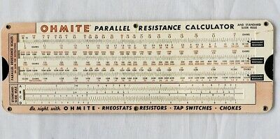 1949 OHMITE OHMS Law Parallel Resistance Calculator Allied Radio Corp  Chicago IL