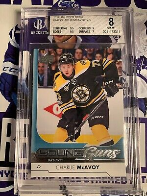2017-18 Upper Deck Young Guns Charlie McAvoy Bgs 8 🔥🔥🔥