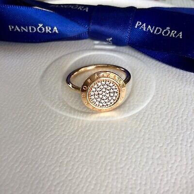 2fa6a845d3191 AUTHENTIC PANDORA SIGNATURE Pave Rose Gold Ring #180912CZ Size 6/52 ...