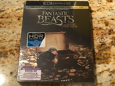 Fantastic Beasts and Where to Find Them 4K Ultra HD SteelBook + Blu-ray +Digital
