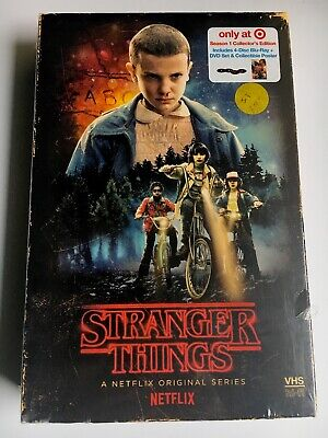 Stranger Things Season 1 Collector's Edition 4 Disc DVD/Bluray Set- New, Sealed!