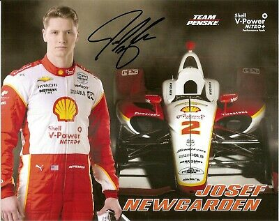 2019 JOSEF NEWGARDEN signed INDIANAPOLIS 500 SHELL PHOTO CARD POSTCARD INDY CAR