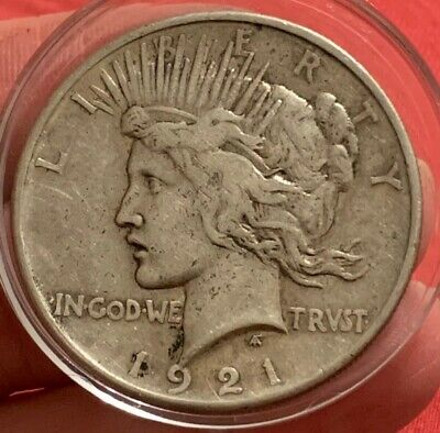 1921 $1 Silver Peace Dollar Great Details!