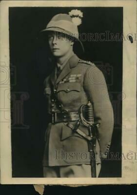 1928 Press Photo The Prince of Wales wears tropical soldiers uniform - lrx59313