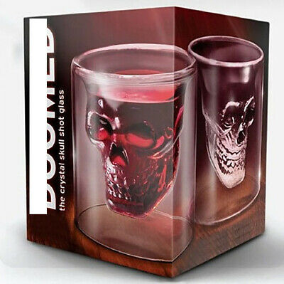 Wine Beer Drinking Cup Skull Head Whiskey Tequila Shot Glass Creative Party 75ml