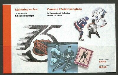 Canada 1992 NHL 75th Anniv prestige bklt--Attractive Sports Topical (1445a) MNH