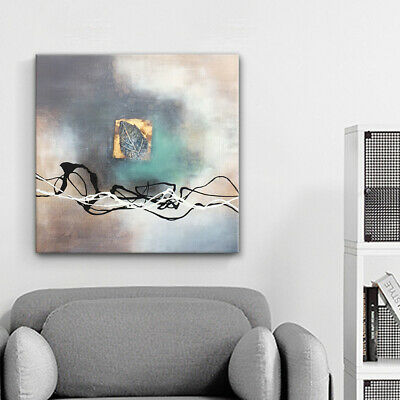 Framed Hand Painted Oil Painting Canvas Modern Abstract Home Wall Art Decor