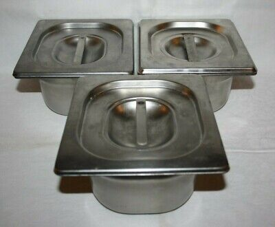 3 Bacs Gastro Inox  Bourgeat France  Gn 1/6