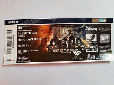 KISS Ticket München End of the Road Tour 31.05.2019 Stehplatz Front of Stage