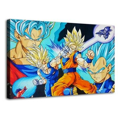 Dragon Ball fight HD Canvas Painting Prints Home Room Decor Wall art wallpaper