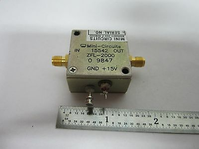 Mini Circuits Rf Amplifier Frequency Zfl-2000 Bin#B2-C-85