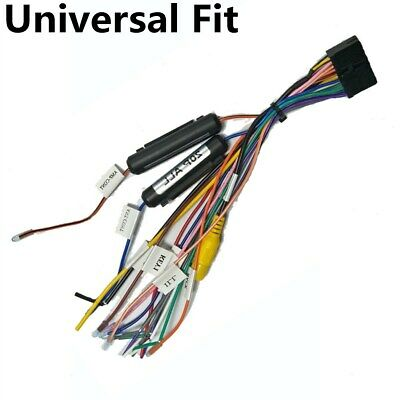 car stereo radio wire harness plug for select pyle 20pin radio 1 or 2 din  dvd