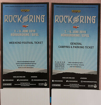 Rock am Ring 2019 Weekend Festival und General Camping & Parking Ticket