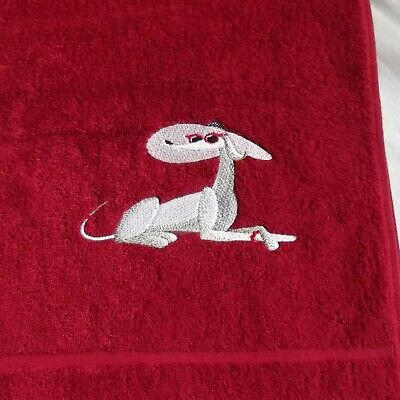 Dog Embroidered Bath Towel, New Home Gift, Embroidered Gift, Housewarming
