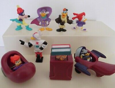 8 Vintage Collectable Darkwing Duck Figures mostly McDonald's Happy Meal Toys