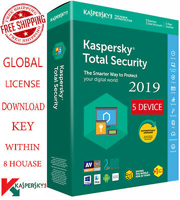 KASPERSKY TOTAL Security - 2019 / 5 Devices / 1 Year / GLOBAL - LICENSE 18.75$