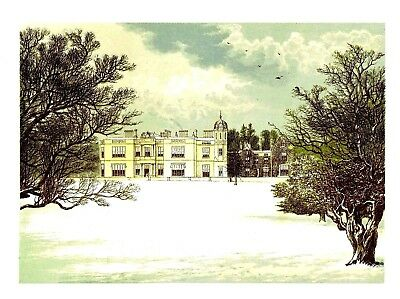 Eshton Hall, Nr Skipton, Yorkshire (In Snow) Seat of the Wilson Baronets - c1865