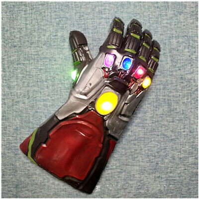 Iron Man Tony Stark LED Gloves Avengers Endgame Infinity Gauntlet Cosplay Gifts