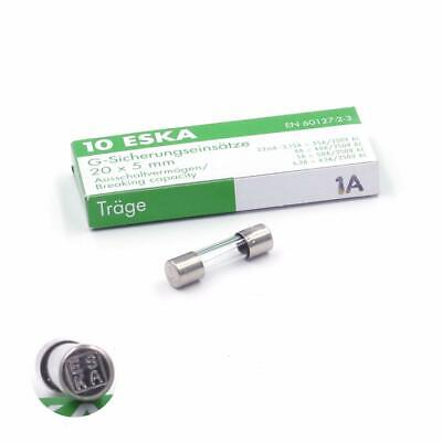 Lot de 10 fusibles temporisés T 1A 250V 5x20mm