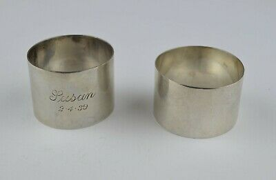 Two South Australian Sterling Silver Napkin Rings Attributed to Wendt Adelaide