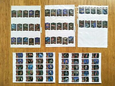 Batman And Robin Movie Clip Tazos 1-40 Complete Set with Backing Sheets RARE!!!