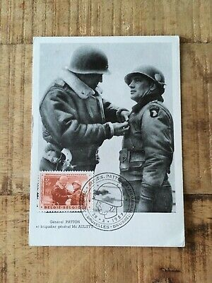 Carte Maximum - Patton - Belgique - 1957 - 2nde Guerre Mondiale