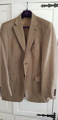 Austin Reed Houndstooth Blazer Sports Jacket 40 Chest Long Wool / Silk