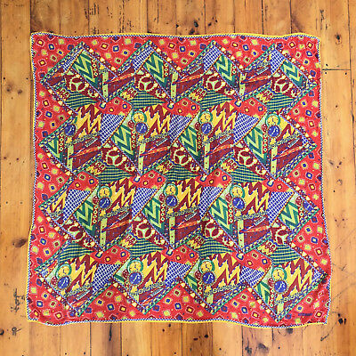 MISSONI!!! Vintage 1990s 'Missoni' multicoloured and multi-patterned, silk scarf