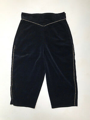 Vintage 1970s 'Colin Raymond' black velvet knickerbockers with gold piping