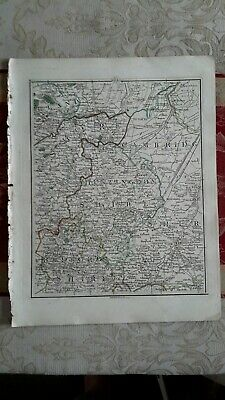 1794 -  John Cary original map 34 huntingdon Cambridge and Northants