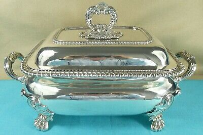 Magnificent Georgian Sterling Silver Soup Tureen Gadroon Benjamin Smith 1821