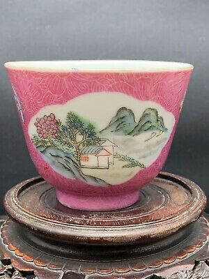Rare Antique Chinese Porcelain Families Rose Cup 18th Century