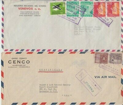 Venezuela - Early Air Mail Covers (3no. Air Mail Covers) 1949-62