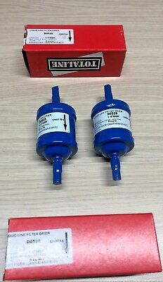 Lot of 2 Filters Dehydrator Cartridge Solid 1/4″ to Braze Totaline D052S