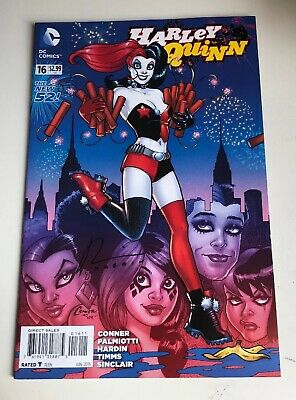 Harley Quinn The New 52 Dc Comic #016 - Signed By Chad Hardin