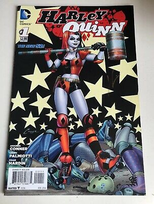 Harley Quinn The New 52 Dc Comic #001 - Signed By Chad Hardin