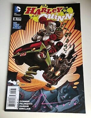 Harley Quinn The New 52 Dc Comic #008 - Signed By Chad Hardin